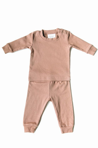 Blush Cotton Two Piece Cozy Set