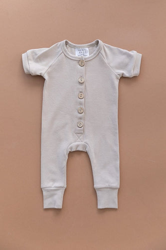 Ash Short Sleeve Cotton Button Romper
