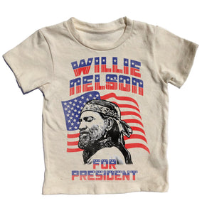 Willie Nelson For Pres Short Sleeve Tee