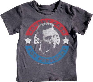 Johnny Cash For Pres Short Sleeve Tee