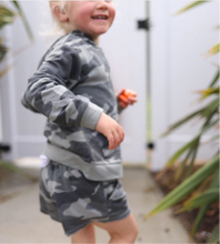 Load image into Gallery viewer, Girls Camo French Terry Hoodie