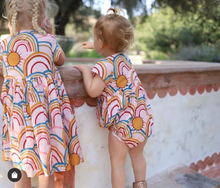 Load image into Gallery viewer, Pink Rainbows Winnie Dress