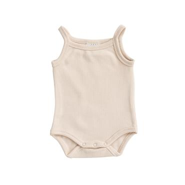 Cream Tank Ribbed Bodysuit