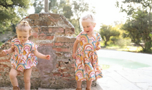 Load image into Gallery viewer, Pink Rainbows Winnie Bubble Romper