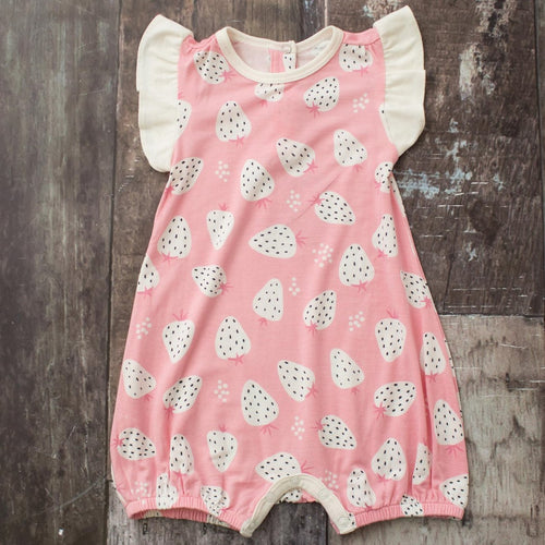 Strawberry Flutter Romper
