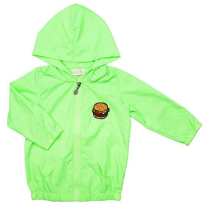 Neon Green Sora Rain Jacket