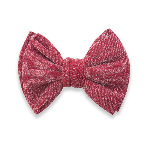 Red Shimmer Bow Clip