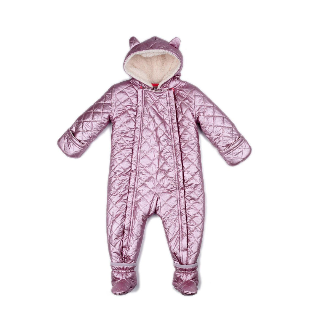 Metallic Pink Perry Snow Suit