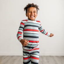 Load image into Gallery viewer, Winter Stripe Two Piece PJ Set