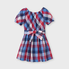 Load image into Gallery viewer, Blue & Red Plaid Dress