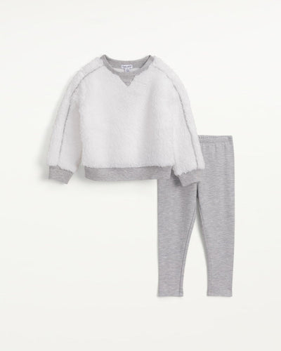 Girls Sherpa Sweatshirt Set