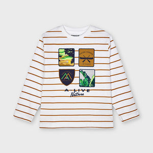 Nature Striped Long Sleeve T-shirt