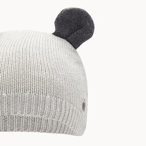 Pale Grey Knitted Hat