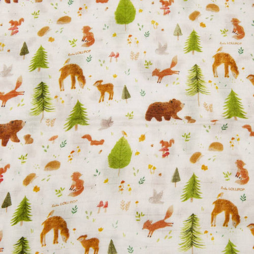 Forest Friends Muslin Swaddle