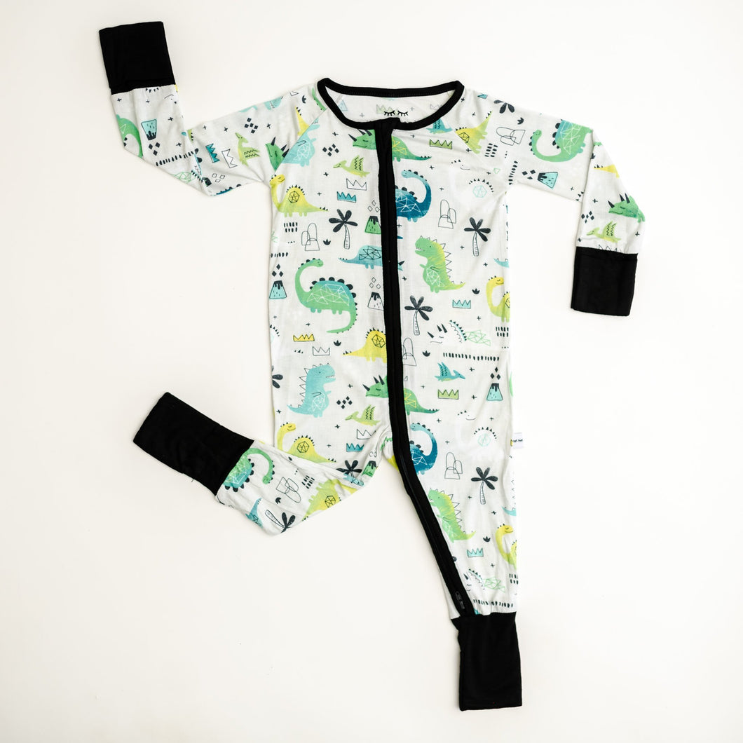 Green Dinosaur Zippy Pajama