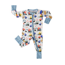 Load image into Gallery viewer, Construction Print Zippy Pajama
