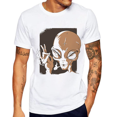 Printed Funny Hipster Men's Alien T-Shirt