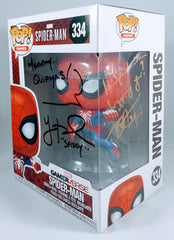 Yuri Lowenthal and Tara Platt Signed Spider-Man Game-verse Funko POP Figure
