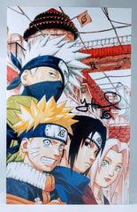 Yuri Lowenthal and Maile Flanagan Signed Naruto - Young Team 7 Foam Print