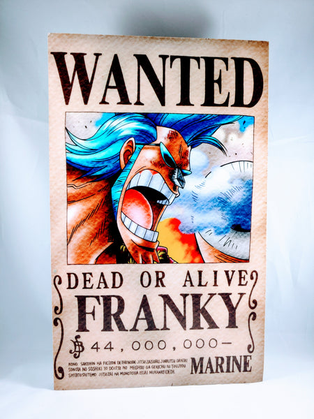 One Piece Franky - Wanted Poster Foam Print