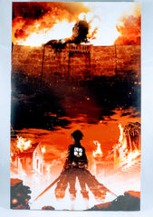 Attack on Titan- Eren vs Titan Foam Print