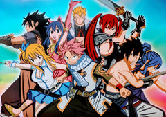 "Todd Haberkorn Signed Fairy Tail Group Shot 15x21"" Poster"