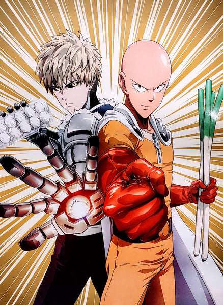 "One Punch Man- Saitama and Genos 15x21"" Poster"