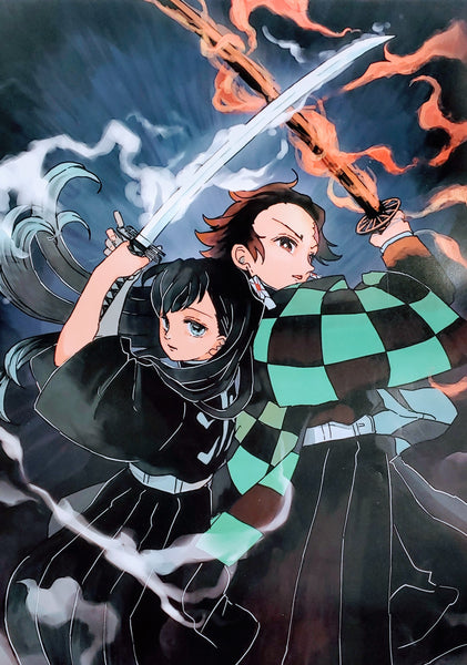 "Demon Slayer- Tanjiro and Muichiro 15x21"" Poster"