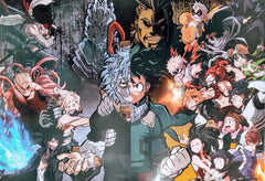 "My Hero Academia- Heroes vs Villains 15x21"" Poster"