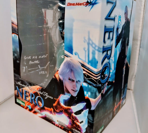 Johnny Yong Bosch Signed Kotobukiya - Non scale Pre-painted Figure - Devil May Cry 4 Nero