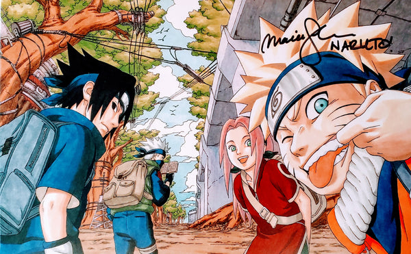Maile Flanagan signed Naruto with Team 7 Foam Print