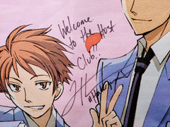 "Vic Mignogna and Todd Haberkorn signed Ouran High School Host Club ""Welcome!"" Wall Scroll"