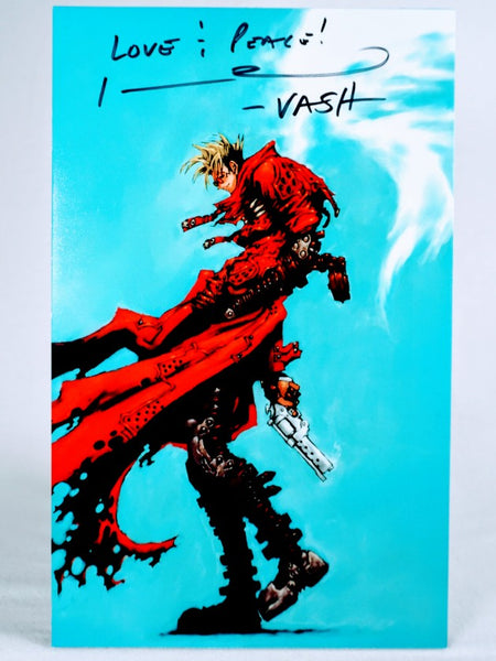 Johnny Yong Bosch Signed Trigun Vash the Stampede Foam Print