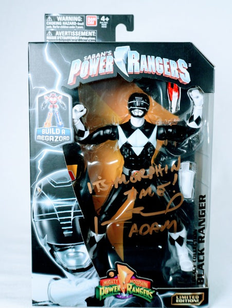 Johnny Yong Bosch Signed Saban Mighty Morphin Power Rangers -Legacy Collection Black Ranger