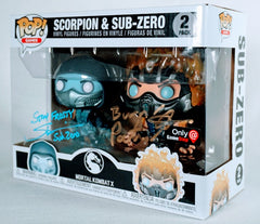 Patrick Seitz and Steve Blum Signed Scorpion and Subzero Funko Pop Figures (Gamestop Exclusive)