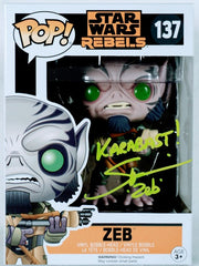 Steve Blum Signed Zeb (Star Wars) Funko POP Figure