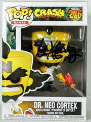 Lex Lang Signed Dr. Neo Cortex (Crash Bandicoot) Funko POP