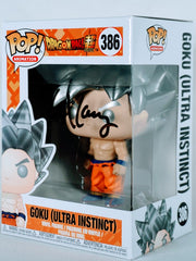 Lex Lang signed Goku (Dragon Ball Super) Ultra Instinct Funko POP Figure