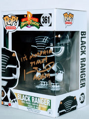 Johnny Yong Bosch Signed Black Power Ranger Funko POP Figure