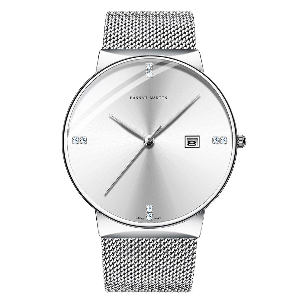 DOROLY White Silver Mesh Watch