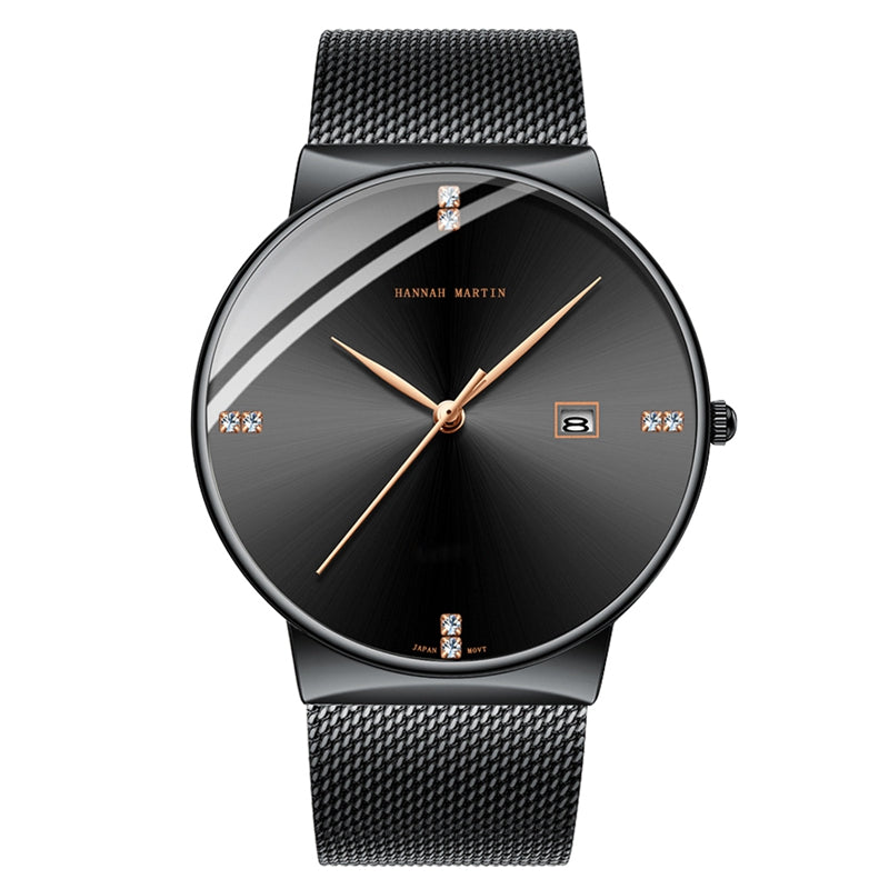 DOROLY All Black Mesh Watch