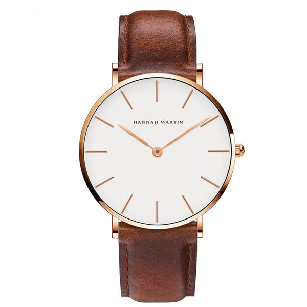 DIGI Brown Gold Leather Watch