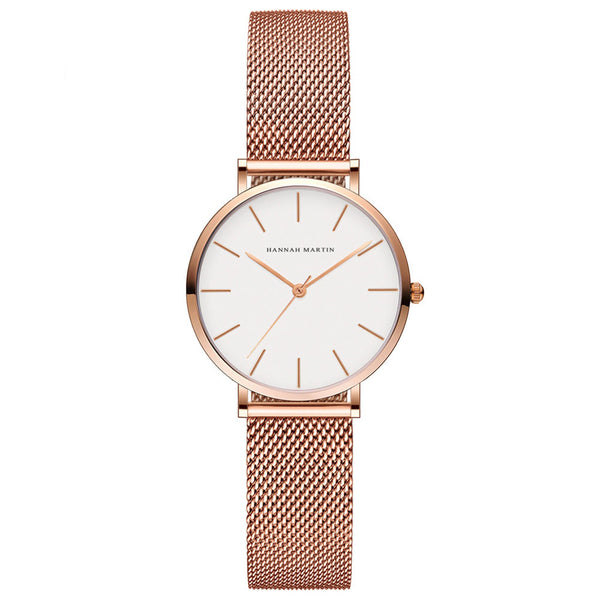 Andy Women Steel Belt Watch GOLD/WHITE