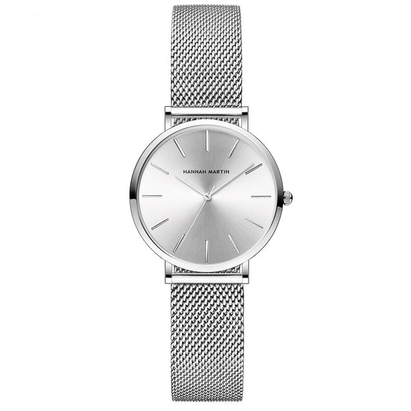 Andy Women Steel Belt Watch SILVER/WHITE