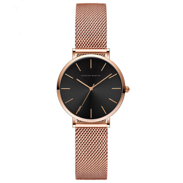 Andy Women Steel Belt Watch ROSE/BLACK