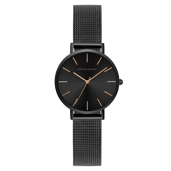 Andy Women Steel Belt Watch BLACK/GOLD