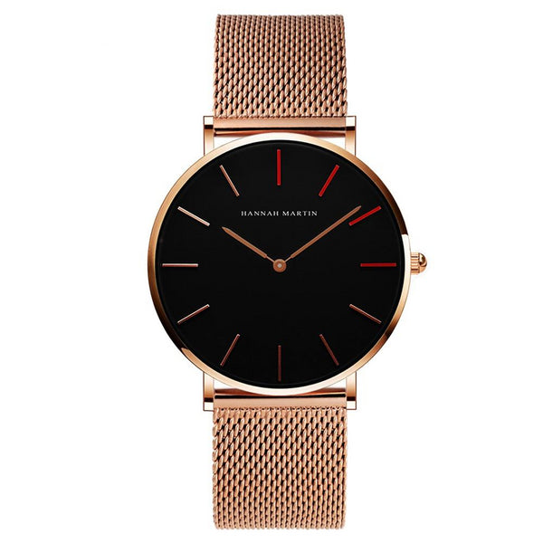DIGI Red Rose Mesh Watch