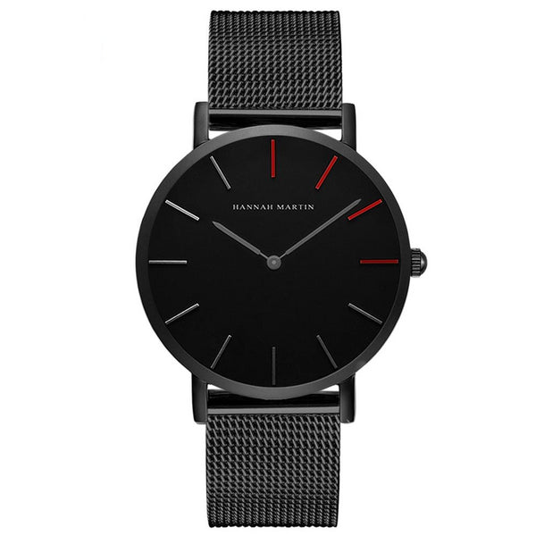 DIGI Red Black Mesh Watch