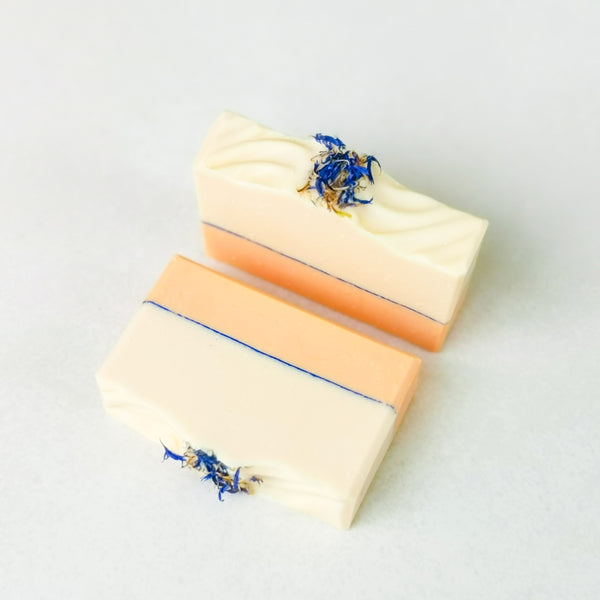 Sweet Orange & Cornflower Artisan Soap