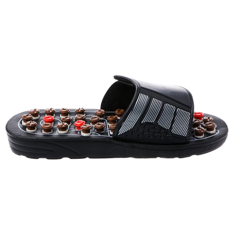 New Fashion Reflexology Sandals Foot Massager Slipper Acupressure Foot Acupuncture Shoes Black EVA Foot Care Tools